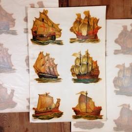 décalcomanie navires navire bateaux bateau vintage stock école sticker eau 1960