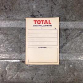 total bloc note facture facturette 1970 stock vintage garage