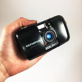 olympus mju i mju 1 noir compact point and shoot 35mm 3.5 argentique automatique