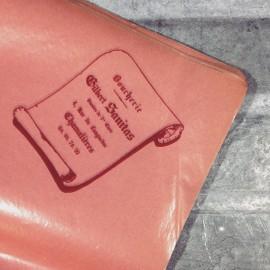 boucherie gilbert sanitas boucher papier emballage 1960 viande