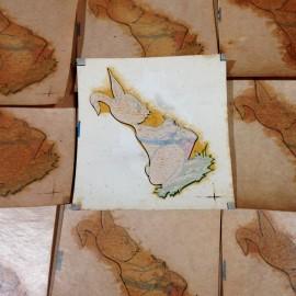 Rabbit Music musician sticker vintage transfer water school 1960