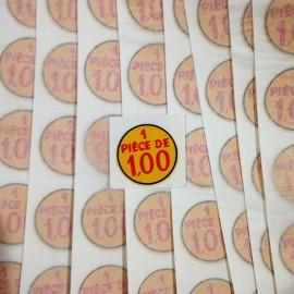 Pièce prix vintage sticker eau décalcomanie école 1960