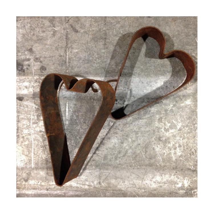 métal coeur emporte-pièce moule épicerie 1920 ancien vintage