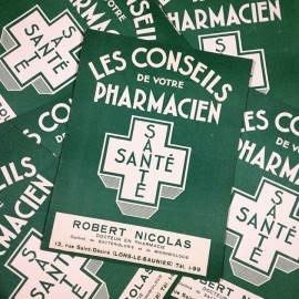 livre conseils pharmacien ancien vintage stock papier