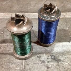 bobine bobines fil atelier crantage métallique 1920