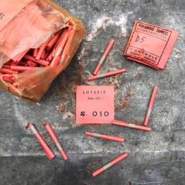 Ticket de loterie tombola fête forraine ancienne vintage 1960 1950
