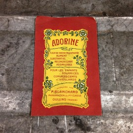 pharmacie sachet adorine p.blanchard ancien stock vintage 1920