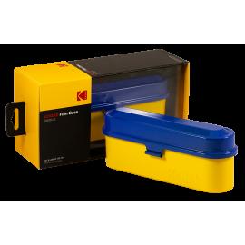 Kodak film case 35mm 5 films film analog vintage metal metallic sort travel storage store blue