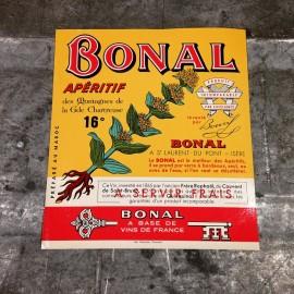 bonal apéritif étiquette alcool vintage ancien papier distillerie 1950 vin de france