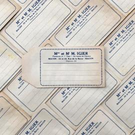 sachet pharmacie m mme igier macon ancien stock vintage 1940 1930 emballage