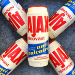 powder ajax box pack 1960 cleaning grocery vintage antique packaging