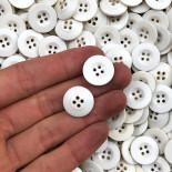bouton ancien plastique blanc 17mm 1950 armée vintage