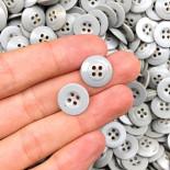 bouton ancien plastique gris 14mm 1950 armée vintage
