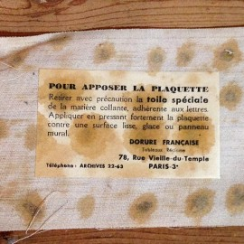 arquebuse bon secours glacoide ancien vintage distillerie distiller 1940 mode emploi vitrine