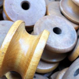 small little wood loom wheel work workshop antique vintage haberdashery wood 1950