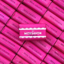 savon monsavon royal violette 1960 petit emballé papier savons anciens