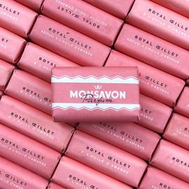 little monsavon royal oeillet rose flower soap still wrapped vintage antique 1960 pink