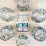 pot yaourt kel en verre 1960 vintage ancien yoghourt yahourt publicitaire épicerie ancienne