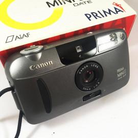 canon prima mini 2 II Date 35mm analog camera film 32mm 3.5 compact