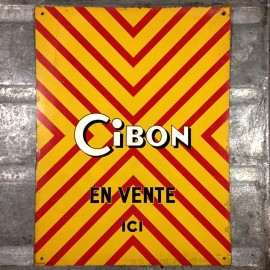 Metal Sheet Cibon Lithographic antique vintage grocery store 1960