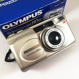 olympus af superzoom 80g zoom point and shoot antique vintage 38-80mm  analog 2002 compact camera boxed box