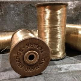 marron glacé bobine atelier fil ancien bois mercerie 1930 vintage
