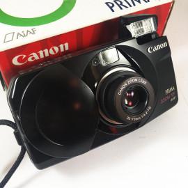 Canon appareil argentique prima zoom 70f noir 35mm compact autofocus zoom 35mm 70mm 4.2 7.8