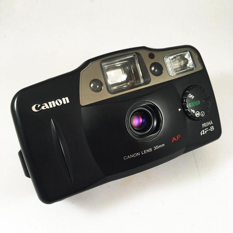Canon Prima AF 8 analog film camera compact 35mm 4.5 vintage