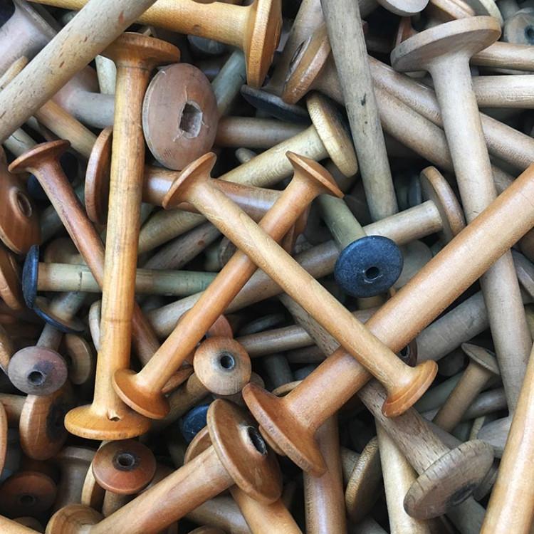 wood bobbin vintage 1930 antique workshop