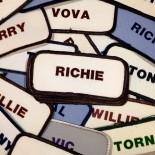 patch prénom américain ancien vintage atelier broderie 1970