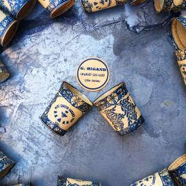pot de miel surfin bigand carton cire ancien vintage 1950 miellerie apiculteur chassey les scey haute saone