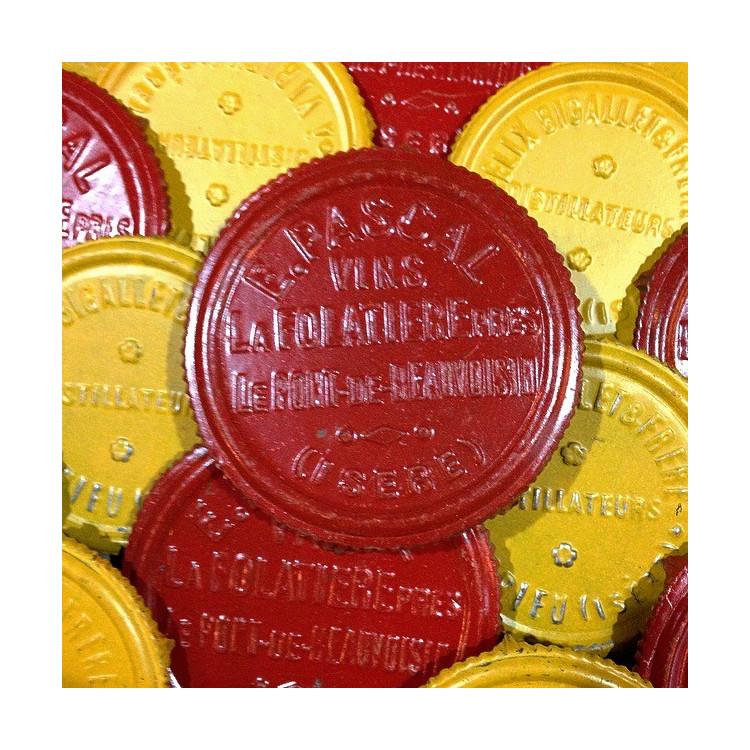 cachet vin transport vin bois caisse e.pascal ancien vintage distillerie 1950