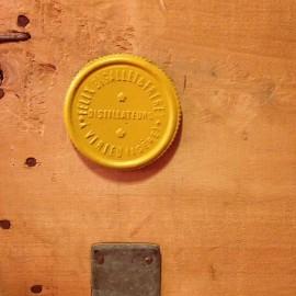 cachet vin transport bois caisse bigallet distillerie ancien vintage 1950