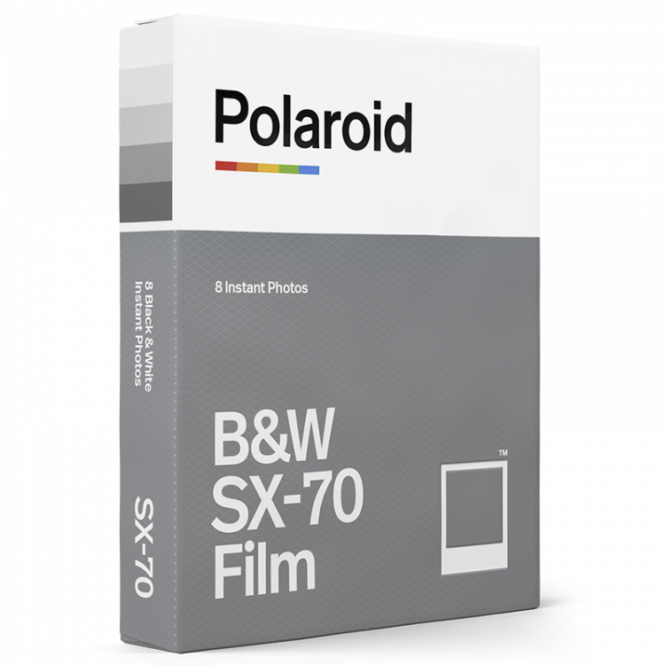 instant film polaroid SX70 impossible project black and white 1000 white frame photo