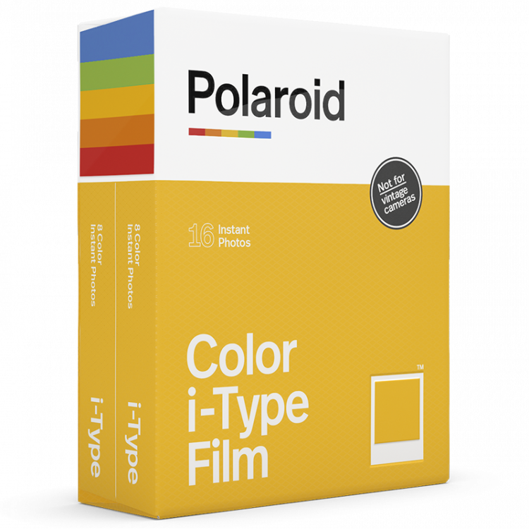 polaroid i-type instant color film for i type cameras not vintage white frame twin pack double