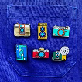pin's photo camera émaillé émail design appareil photo accessoires vintage les ateliers de marinette