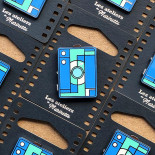 photo box blue camera analog pin badge enamel accessories les ateliers de marinette metal lyon vintage