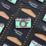 pin's photo télémétrique bleu émaillé émail design appareil photo accessoires vintage les ateliers de marinette