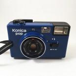 konica pop bleu appareil argentique compact 35mm 135 film pellicule flash 36mm F4 4