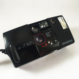 olympus af1 twin af-1 automatic point and shoot compact 35mm 70mm two lenses analog