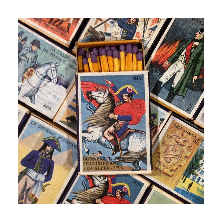 boite allumette napoléon empire bois ancien vintage tabac 1970 1980