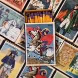 napoleon box wood matches empire antique vintage tobacco store 1970