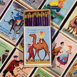 allumettes boite bois seita ancien vintage fables proverbes tabac 1970