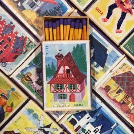 boite bois allumettes seita régions françaises ancien vintage tabac 1970