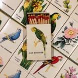 fleurs oiseaux boite allumette ancien vintage bryant and may 1970