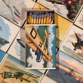 boite allumettes aviation ancien vintage seita tabac 1970