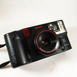 olympus az-100 zoom automatic point and shoot compact 35mm 70mm twin lense analog