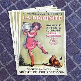 affiche publicitaire digoinite ancien vintage carton cartonnée épicerie 1929 poulbot