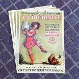 digonite poster cardboard antique vintage poulbot grocery 1929