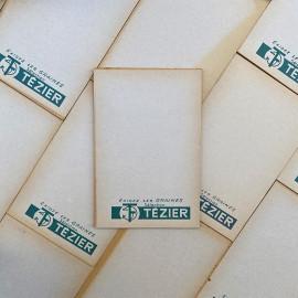 bloc notes ancien brocante graines tézier vintage 1960